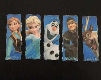 Set of 5 Laminated Frozen Bookmarks