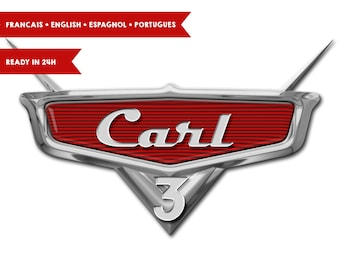 Disney Cars logo customized with name at png format in HQ (A4)
