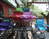 Personalized Kids Camping Chair With Matching Bag - Sports, Beach, Tailgating, Outdoor