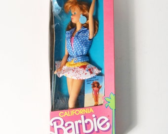 Vtg Mattel 1987 California Barbie - Midge Doll #4442 Roller Skates, Comic- NRFB