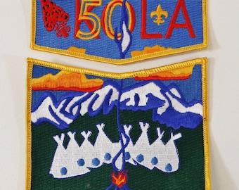 OA Order of the Arrow Kola 464 50th Anniversary Flap Patch Set Denver Boy Scouts
