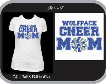 Cheer Mom Glitter Shirt, Spiritwear, Cheer Mom T-Shirt, Cheer Mom Gift, Cheer Mom Shirt with Team Name