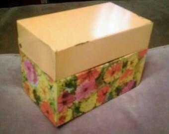 Vintage Hinged Tin Box