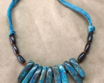 Stunning imperial turquoise necklace