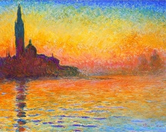 Original plastic placemat Monet San Giorgio Maggiore at Dusk