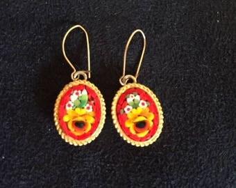 Vintage Micro-Mosaic Earrings