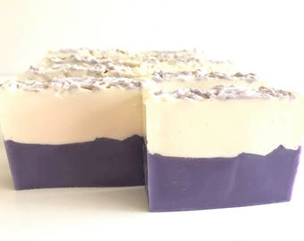 Lilac and Grapefruit Layered Cold Process Soap