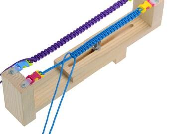 SALE Parachute Bracelet Jig - Paracord Wristband Making Loom. DIY Friendship making Jig. Adjustable wood Paracord Braiding and Weaving Tool.
