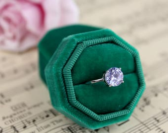 Velvet Octogon Ring Box For Weddings, Engagements, Gifts for the Bride, Gifts for Bridesmaids