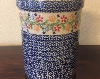 Polish Pottery Kitchen Utensil Holder
