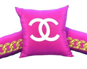 Vintage Chanel 3 Pillow Set iwj4480-1