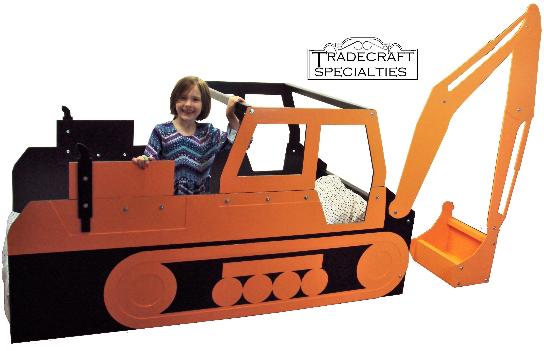excavator twin kids bed frame handcrafted children u0027s