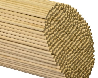 "Wooden Dowel Rods 3/16"" x 12""- Mini Pennant Sticks / Rods"