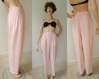 Pink 80s Highwaisted Pink Vintage Pants // Lucia // Size 40 // Made In West Germany