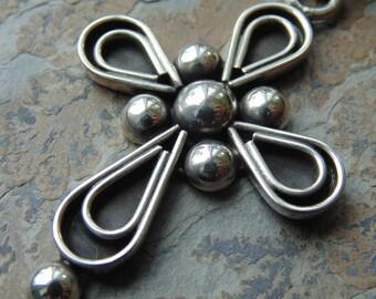 Bernice Goodspeed - Vintage Taxco Sterling Silver Cross Pendant