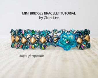 Mini Bridges Bracelet Tutorial by Claire Lee, Silky Bead and SuperDuo Bracelet Tutorial
