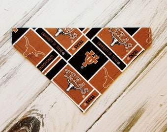 University of Texas Inspired Dog Bandana, Dog Scarf, kerchief