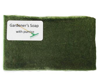Handmade Soap ~ Gardeners Soap with Pumice ... Hand-made glycerin Soap suitable for vegans