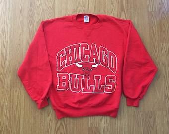 Vintage Chicago Bulls Crewneck Sweatshirt - Small Mens - Vintage Clothing - 90s Clothing - Michael Jordan - Air Jordan -
