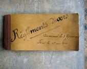 Reservec for LB  A vintage French handwritten receipt book, 1930s, receipts, handwriting, stamps, scrapbooking, collage