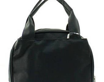 Monogrammed/Personalized Black Lunch Tote/Bag