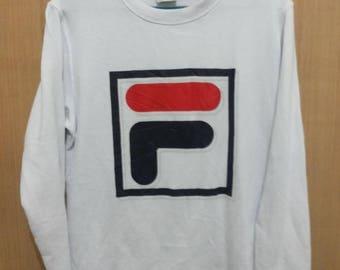 SALE Vintage Fila Big Logo Sweater