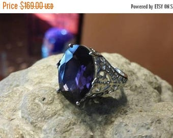 Holiday SALE 85 % OFF Amethyst  925 Sterling Silver   Ring  Gemstone