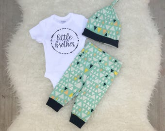 Mint Triangle Little Brother Set