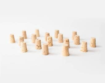 10 Medium Corks, Size 5 - Natural  Cork Stoppers