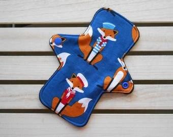 Reusable Cloth Pad - Cloth Panty Liner - Cotton Fox Print