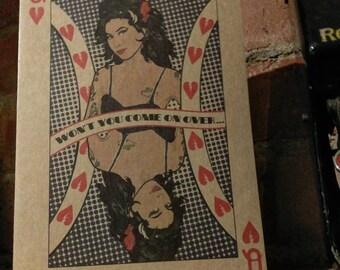 Amy Winehouse - Blank Greeting Card - Valentine - Valerie