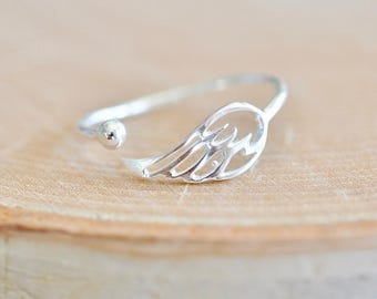 Sterling Silver Wing Ring, Angel Wing Ring, Angel Wing Jewelry, Angel Ring, Remembrance Jewelry, Adjustable Ring, Jamber Jewels 925