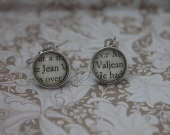 Jean Valjean Earrings ~ Les Miserables ~ Victor Hugo ~ Les Mis~