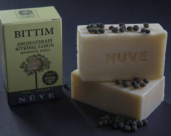 Nuve Terebinth Soap - Handmade Aromatherapy Herbal Collection - All Natural With Olive Oil (110 gr. / 4 oz.)
