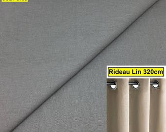 Curtain linen large size (gray) has EYELETS height 320 CM Double heavy curtain