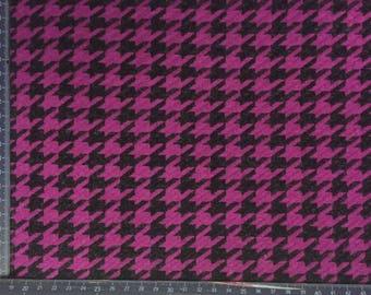 2 meters wool houndstooth black /FUSCHIA skirt suit set 88
