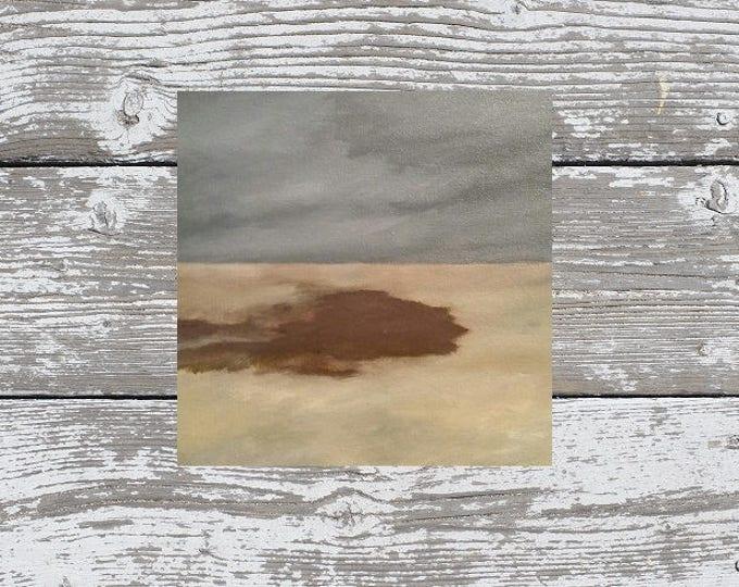 Crimson Clover  - Oil Painting - Modern Landscape