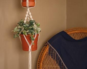 Darcy large macrame double plant hanger