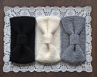 Knitted Turban Winter Headband, Winter Knit Ear Warmer, Winter Headband, Winter Knit Head Wrap, Knitted Ear Warmer, Black Hat, TheKnitNut