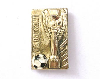 SALE, Mexico 70, Football championship, Sport, Soviet badge, Vintage collectible badge, Soviet Vintage Pin, USSR, 1980s