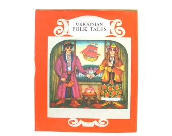 Ukrainian folk tales, Book in English, Fairy tales, Vintage illustrations, Rare Vintage Children's Book, USSR, Soviet Union, 1985, 80s