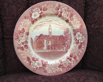 Old English Staffordshire Ware Pink and Cream English Plate