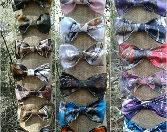 Boys & Men Camo Bow Ties Available in 24 camo colors.