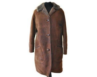 Mens sheepskin coat | Etsy