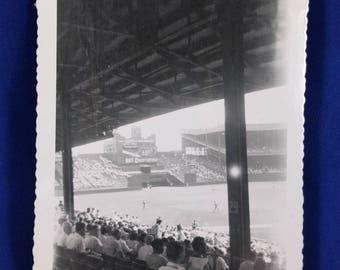 Vintage The Polo Grounds New York Baseball Stadium Photograph. Kodak Velox Paper. Original Photo, Photograph.