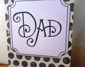Greeting card DAD - 21 cm x 15cm father's day or birthday party