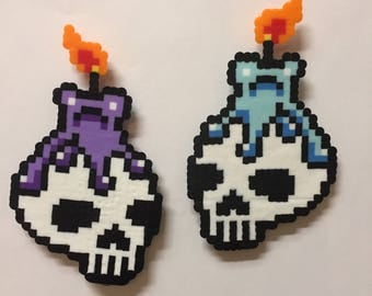 Candle and Skull Magnets