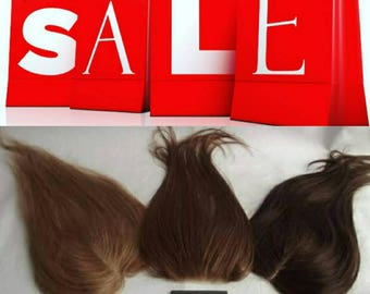 Human hair lace topper, clip in, hand tied toupee, closure, choose colour and size, 18 inches long, light density