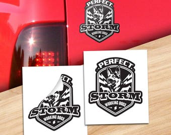 Custom Decals: Perfect Storm Working Dogs