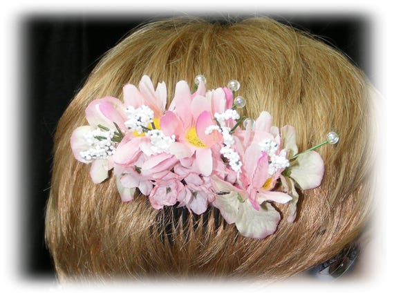 Beautiful DECORATED HAIR COMB wedding style
